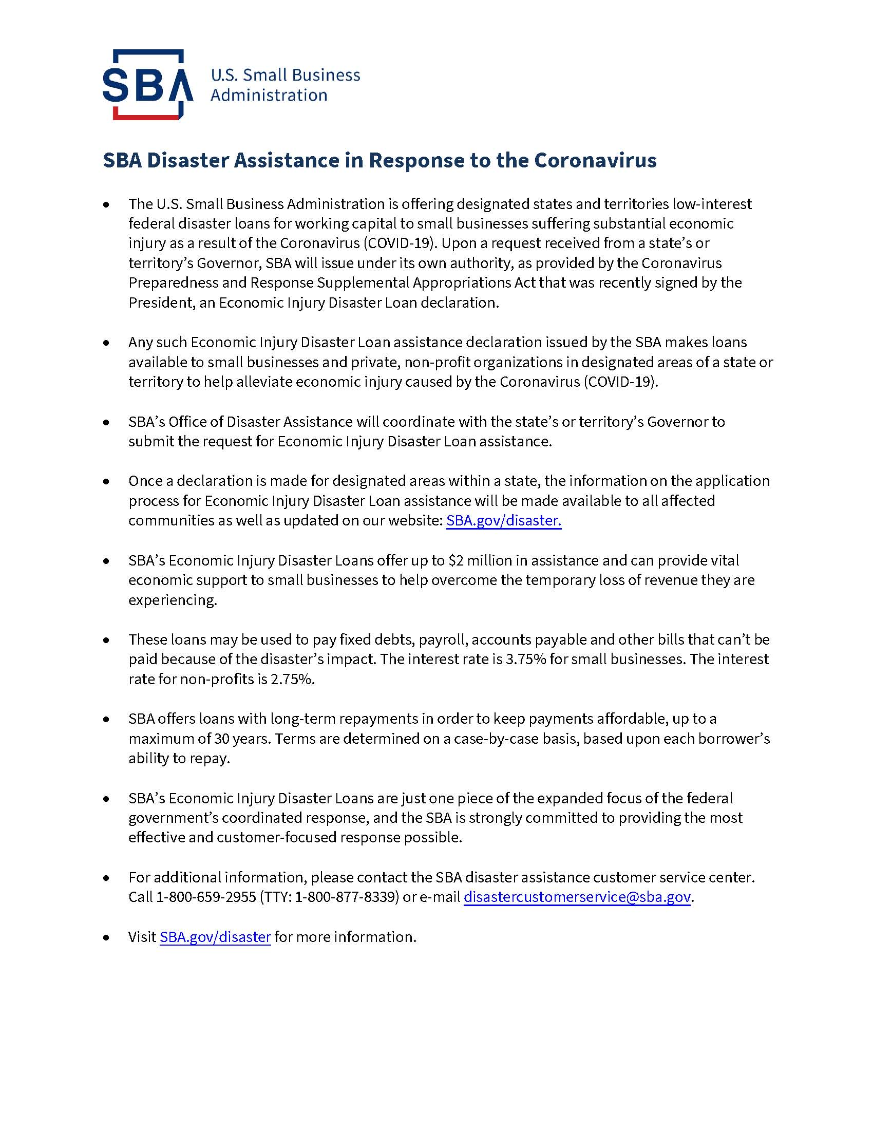 COVID-19 SBA Disaster Assistance_Resources for Businesses-508 (1)